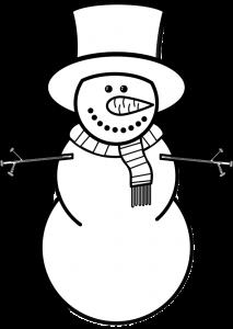 Snowman Clip Art Black and white