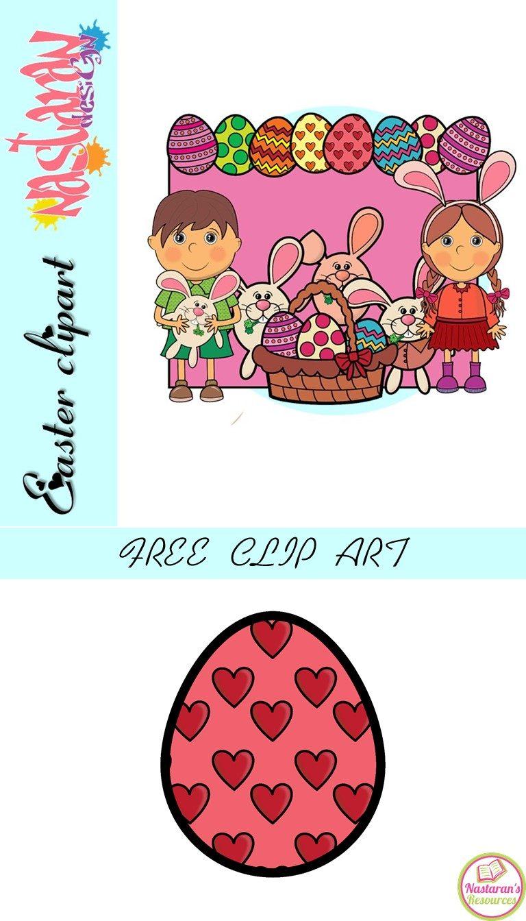 Easter Eggs Clip Art Free