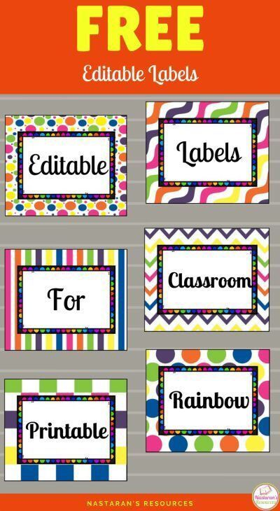 Free Printable Labels-Fun and easy to organize your classroom or home if you have these free editable labels! So easy to use! #printable #organizing #classroomOrganization #freePrintable #labels